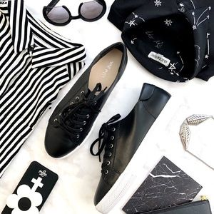 Black Classic Leather Sneakers